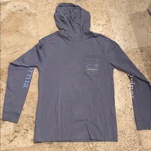 Vineyard vines long sleeve t shirt with hoodie